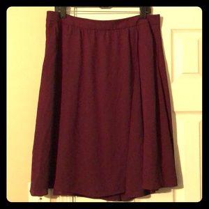 Amazing wrap skirt- burgundy color